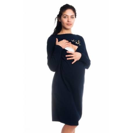 Tehotenská, dojčiaca nočná košeľa Blessed Mama - granátová