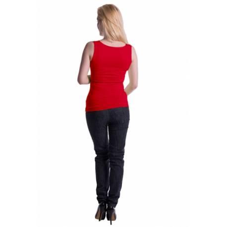 Tehotenské, dojčiace tielko s odnímateľnými ramienkami - červené