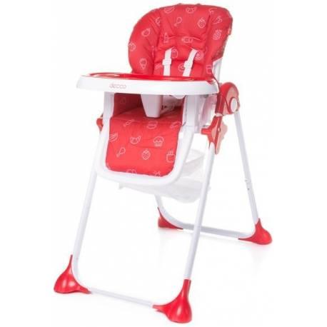 4Baby Jedálenská stolička Decco - červená
