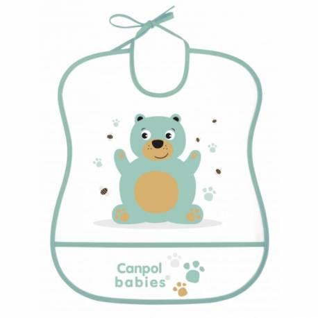 Plastový podbradník s vreckom Cute Animals - Medvedík