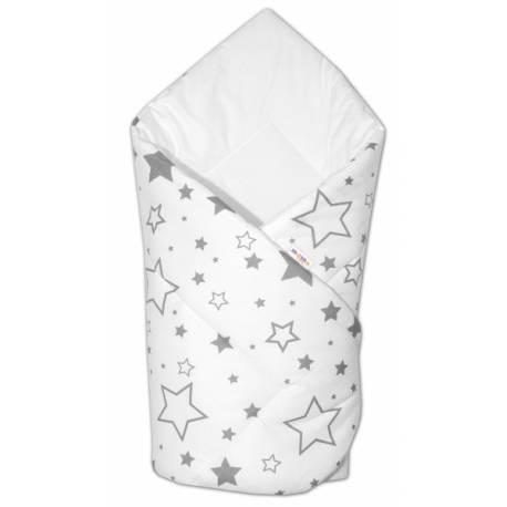 Novorodenecká rýchlozavinovačka Klasik - Sivé hviezdy a hviezdičky - biela