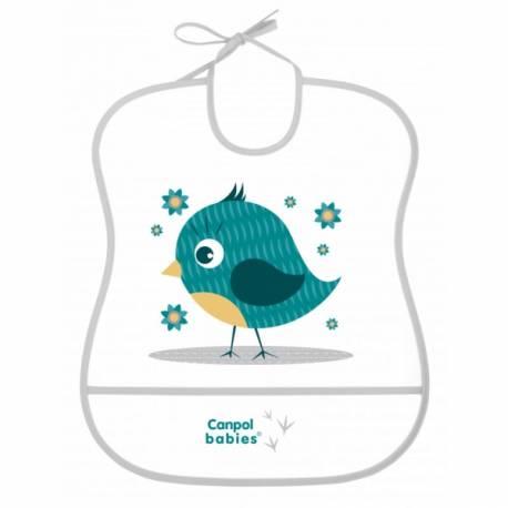 Plastový podbradník s vreckom Cute Animals - Vtáčik