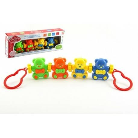 Reťaz/zábrana Baby medvedíky plast v krabici 33x12x5cm 3m +
