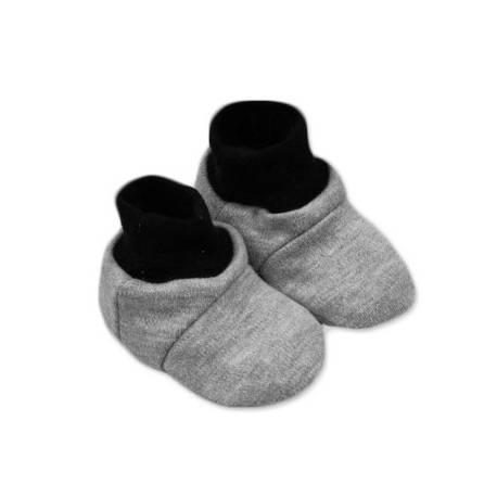 Topánočky /ponožtičk, Little prince/princess Bavlna - Sivé