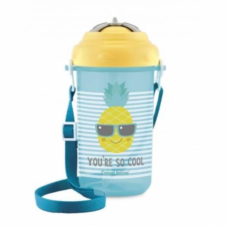 Športová fľaša so slamkou So Cool - Ananas