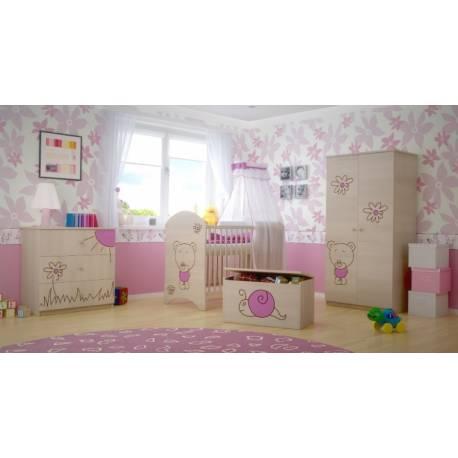 Box na hračky, truhlička Šnek růžový