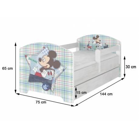 Dětská postel HELI v barvě norské borovice s šuplikom 160x80 + matrac zadarmo
