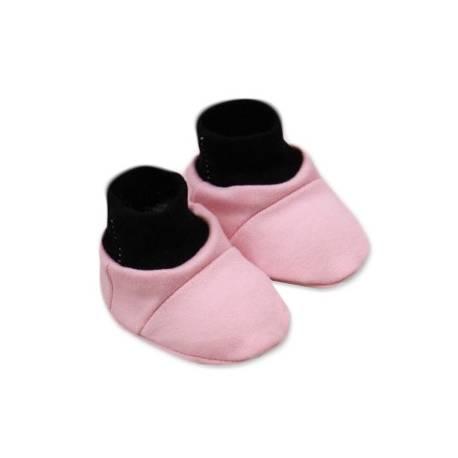 Topánočky /ponožtičky Little princess Bavlna - Růžovo/čierne