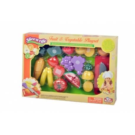 Ovocie a zelenina krájací plast v krabičke