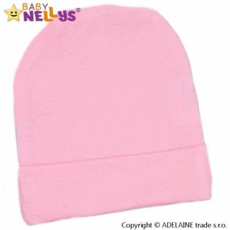 Novorodenecká čiapočka - sv. ružová