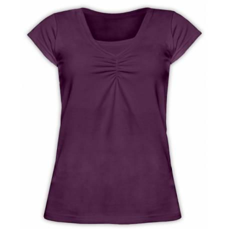 Dojčiace, tehotenské tričko KARIN - slivkovej