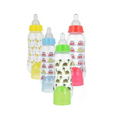 Plastová fľaštička s obrázkom 250 ml - mix vzorov
