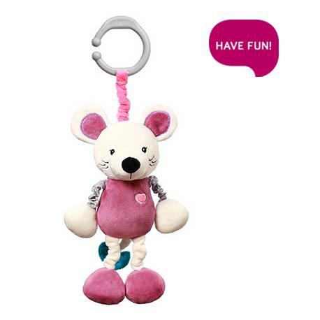 Závesná hračka s vibrácií a hrkálkou Mouse Sybil