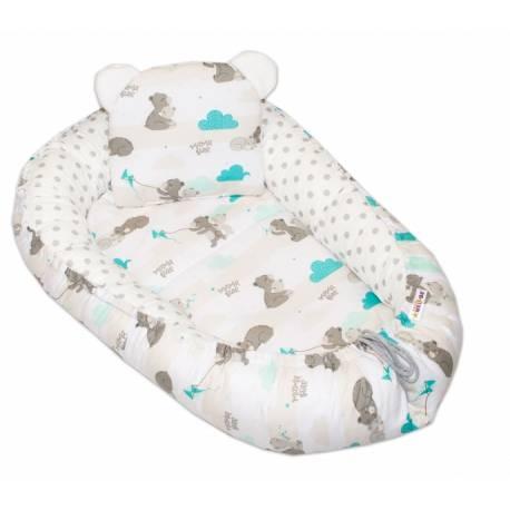 Obojstranné hniezdočko, kokon - Medvedík veľké bodky - mätová /biela