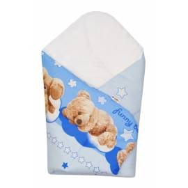 Novorodenecká zavinovačka Macko Hviezdička Baby Nellys - modrá