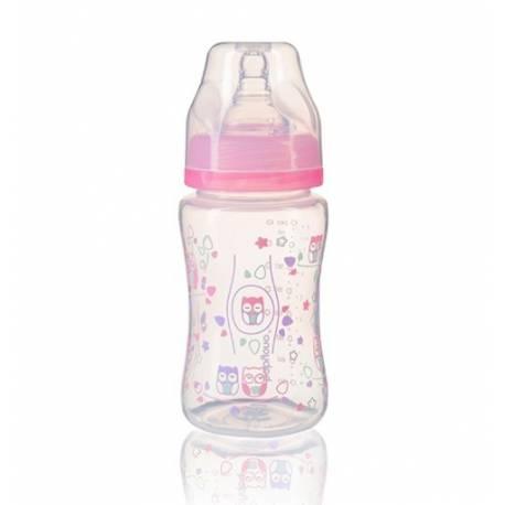 Antikoliková fľaštička so širokým hrdlom Baby Ono - ružová