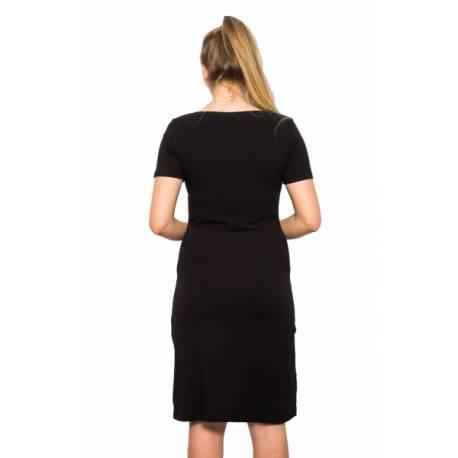 Tehotenská, dojčiace nočná košeľa Queen - černá, vel. L/XL