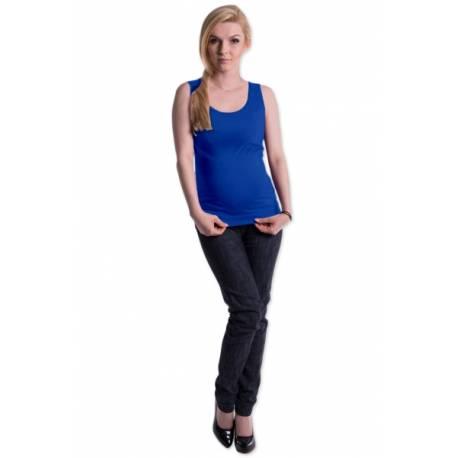 Tehotenské, dojčiace tielko s odnímateľnými ramienkami - tm. modré, vel. L/XL