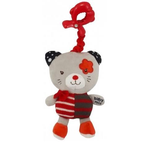 Závesná hračka Mačička - červený