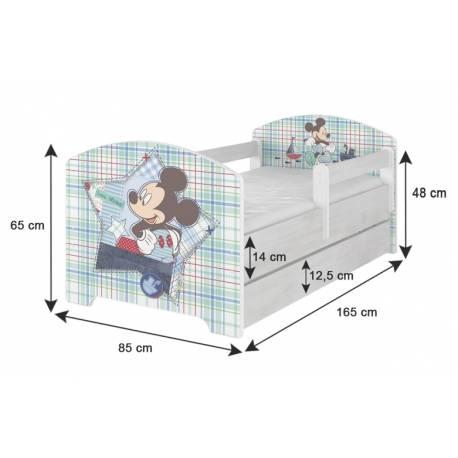 Dětská postel HELI v barvě norské borovice + matrac zadarmo