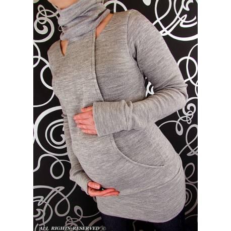 Tehotenský svetrík Lízatko - šedá