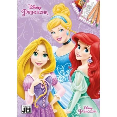 Omaľovánka A5 Disney Princezné