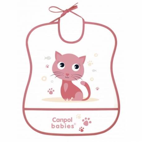 Plastový podbradník s vreckom Cute Animals - Mačka