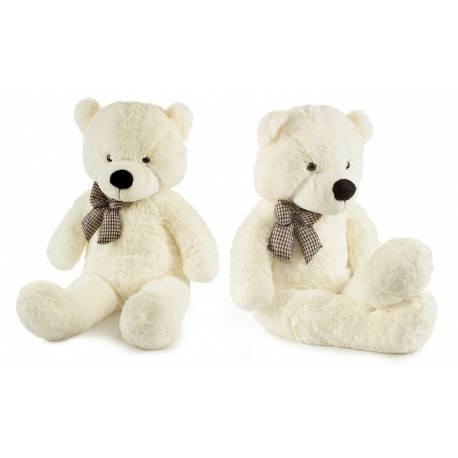 Roztomilý maxi plyšový medveď Tedík 130cm - smatanový