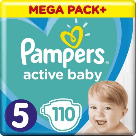 Plienky Active Baby 5 JUNIOR 11-16kg 110ks Pampers