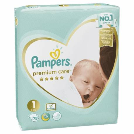 Plienky Premium Care 1 NEWBORN 2-5kg 78 ks Pampers