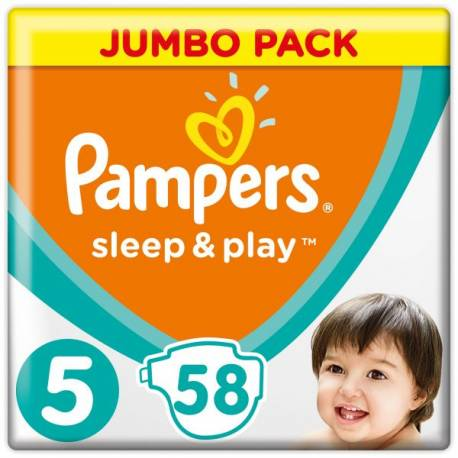 Plienky Sleep&Play Jumbo Pack 4 MAXI 9-14kg 58ks Pampers