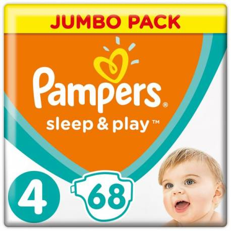 Plienky Sleep&Play Jumbo Pack 5 JUNIOR 9-14kg 68ks Pampers
