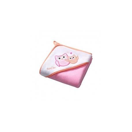 Osuška s kapucňou Velour 100x100 - pink