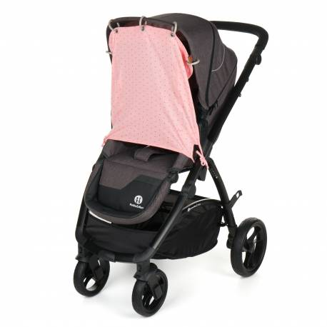 Clona slnečná do kočíka rúžová potlač UNI
