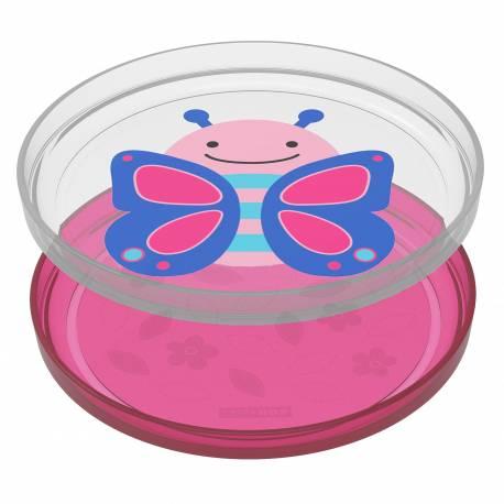 Zoo tanieriky protišmykové 2 kusy - Motýľ 6m+