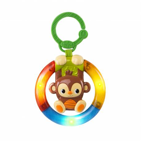 Hračka hudobná, svietiaca na C krúžku Shake&Glow opička 3m+