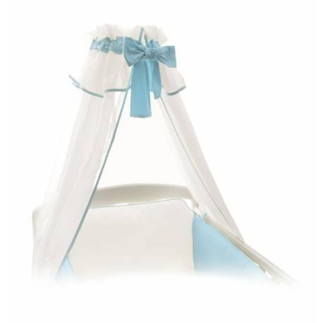 Baldachýn bielo - modrý