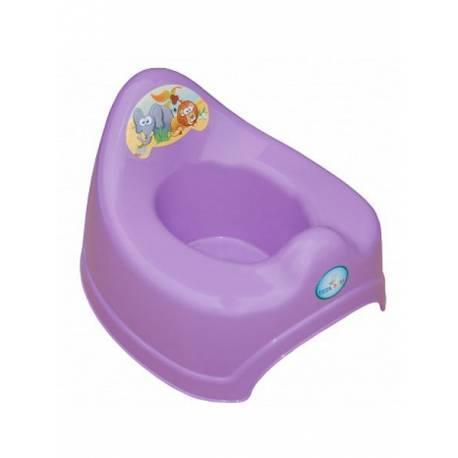 Hrající dětský nočník safari fialový