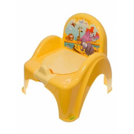 Dětský nočník s poklopem žlutý safari