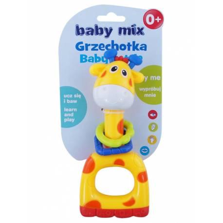 Dětské chrastítko Baby Mix žlutá žirafa