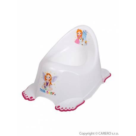 Dětský nočník protiskluzový Malá Princezna bílý