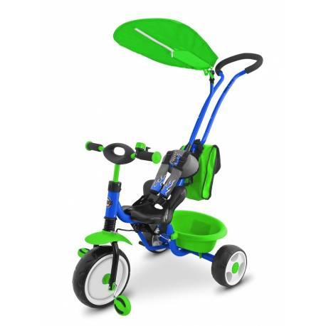 Dětská tříkolka Milly Mally Boby Delux blue-green