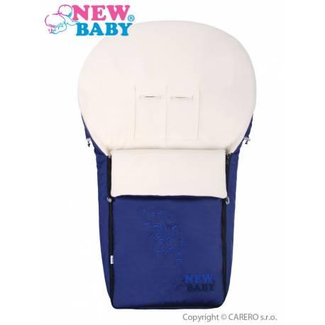 Luxusní fleecový fusák New Baby tmavě modrý