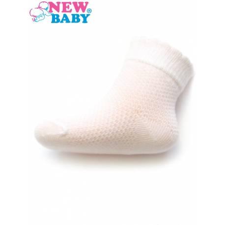 Kojenecké ponožky se vzorem New Baby bílé