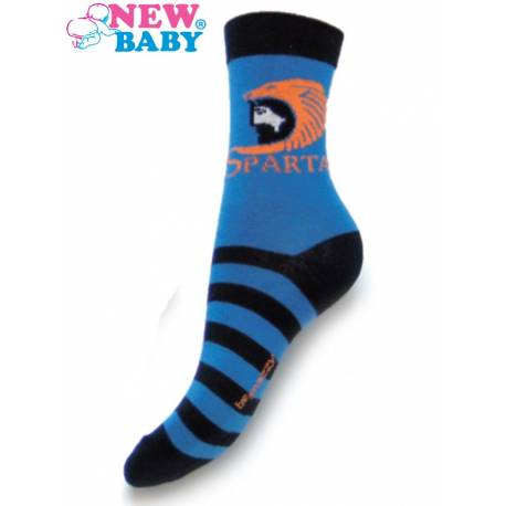 Dětské bavlněné ponožky New Baby modré sparta