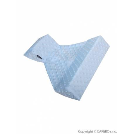 Trojhranná opěrka z Minky Womar modrá