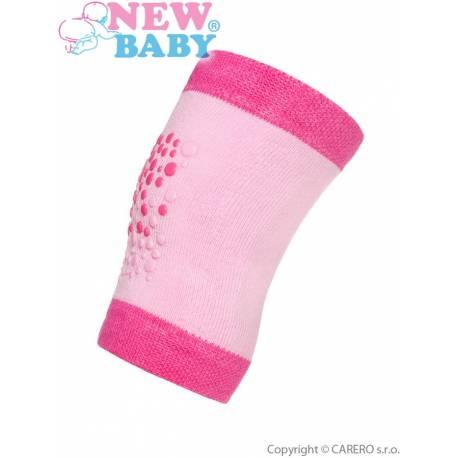 Dětské nákoleníky New Baby s ABS růžové
