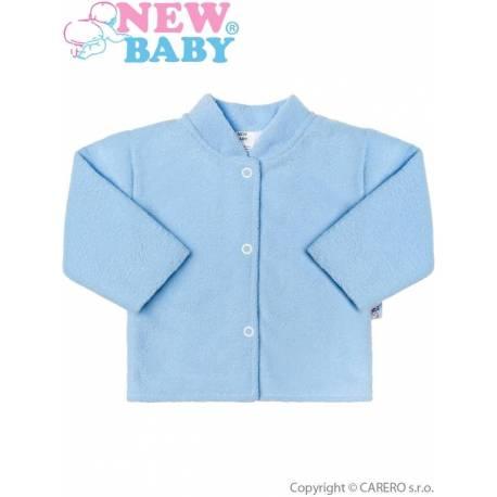 Kojenecký froté kabátek New Baby modrý