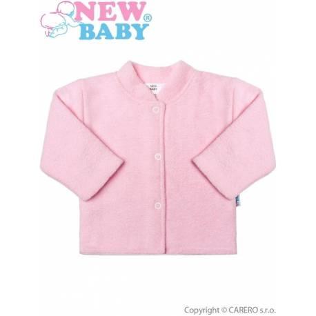 Kojenecký froté kabátek New Baby růžový