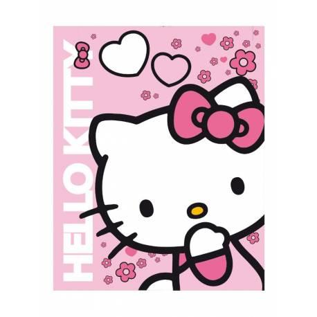 Dětská oboustranná auto deka Hello Kitty 120x150 cm